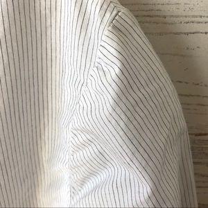 James Perse Tops - JAMES PERSE Sheer Pinstriped Long Sleeve tee